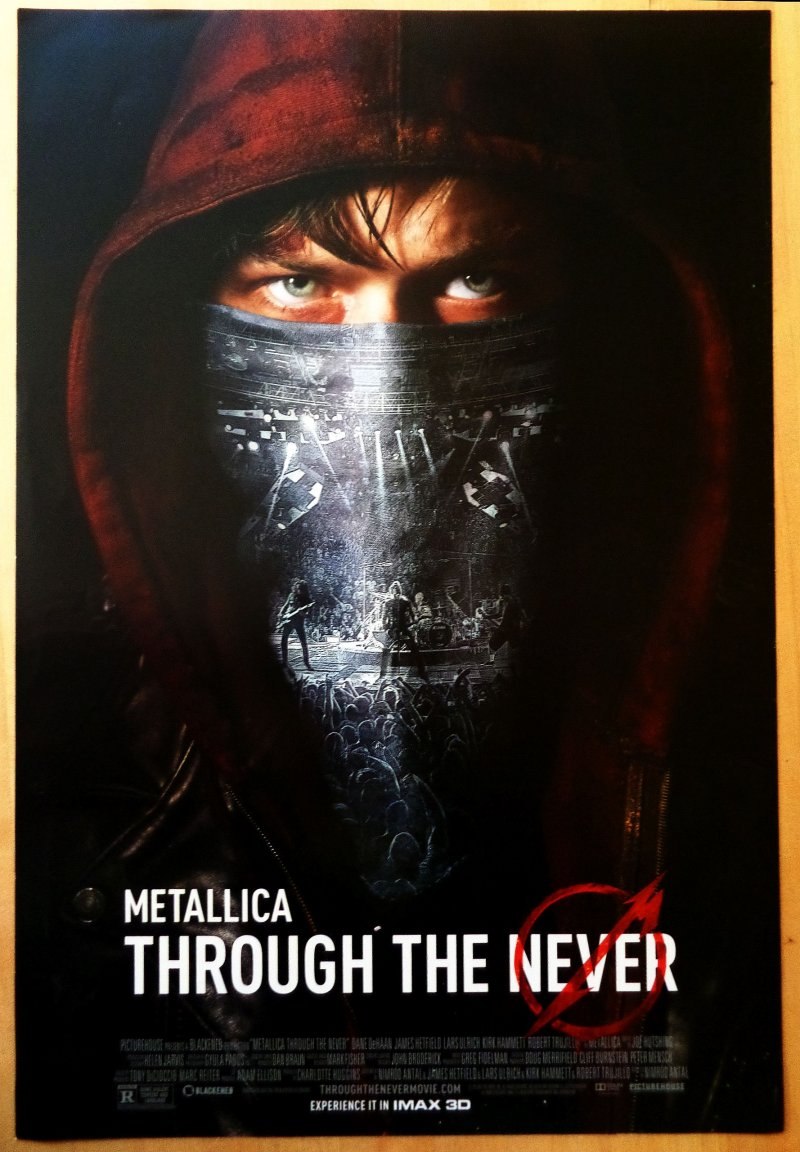 Image 0 of METALLICA Movie POSTER Through The Never Film (13 1/2 x 20)