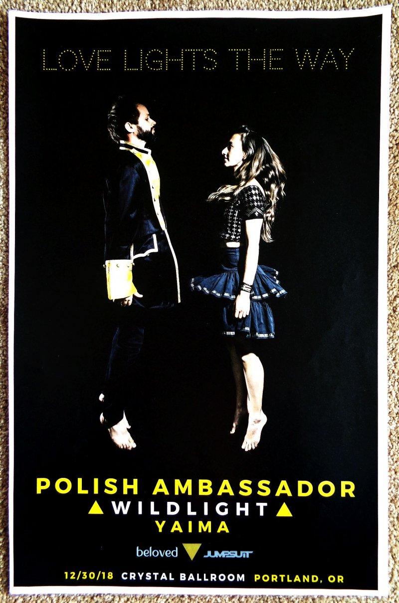 POLISH AMBASSADOR 2018 Gig POSTER Portland Oregon Concert