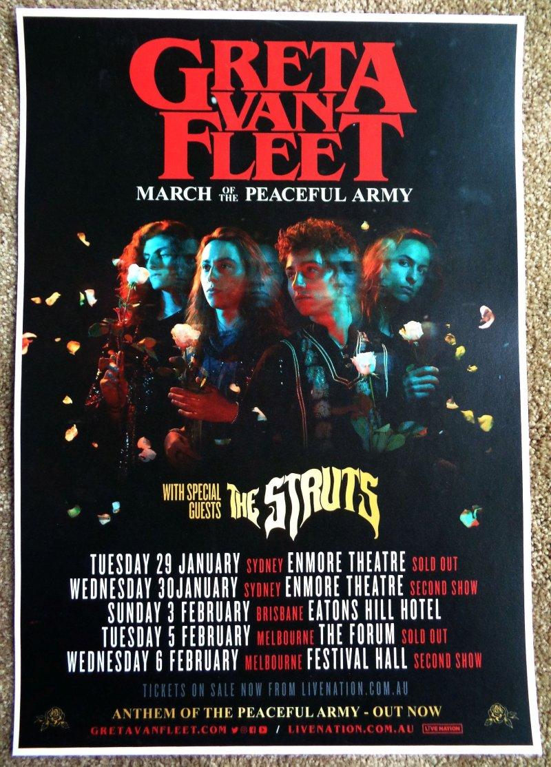 Image 0 of GRETA VAN FLEET 2019 Tour POSTER Australia Gig Concert January-February