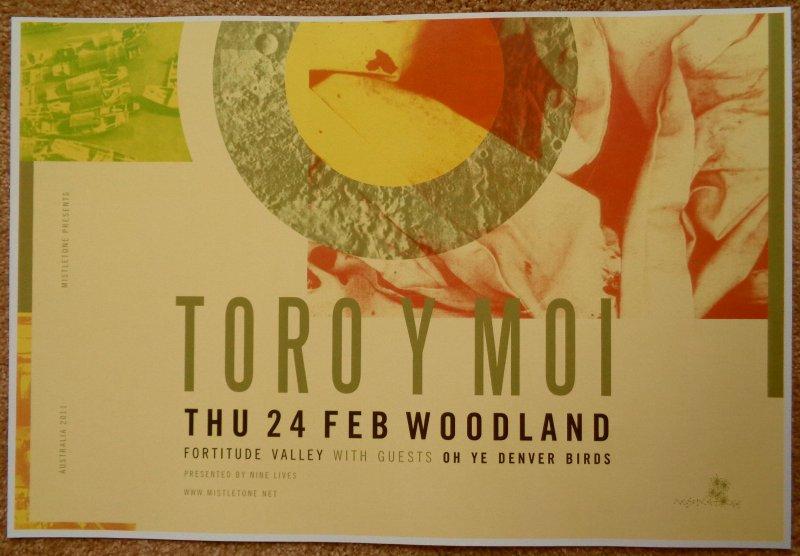 Image 0 of TORO Y MOI 2011 Gig POSTER Queensland Australia Concert Chaz Bundick