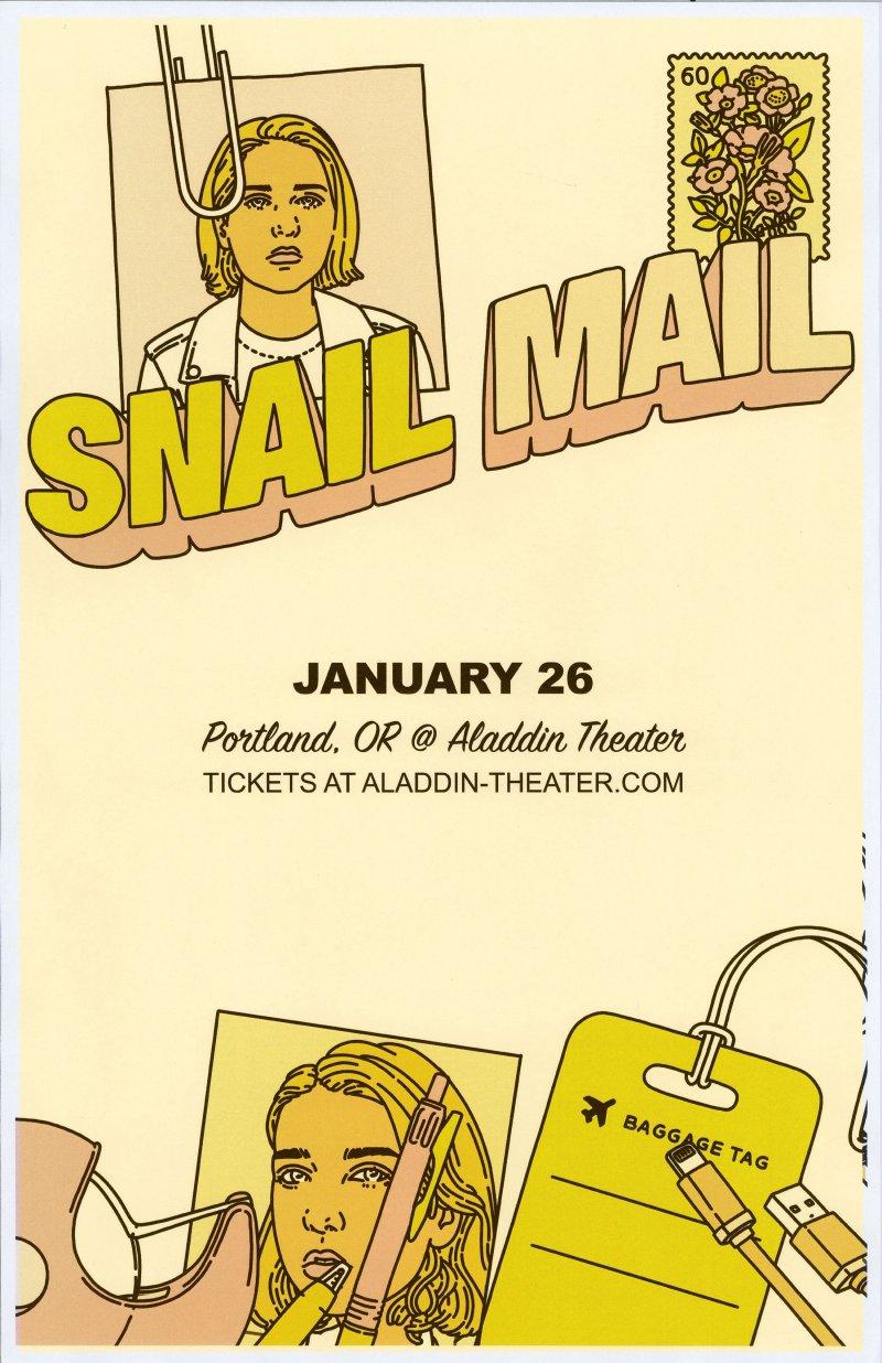 Image 0 of SNAIL MAIL 2019 GIG POSTER Portland Oregon Lindsey Jordan Concert