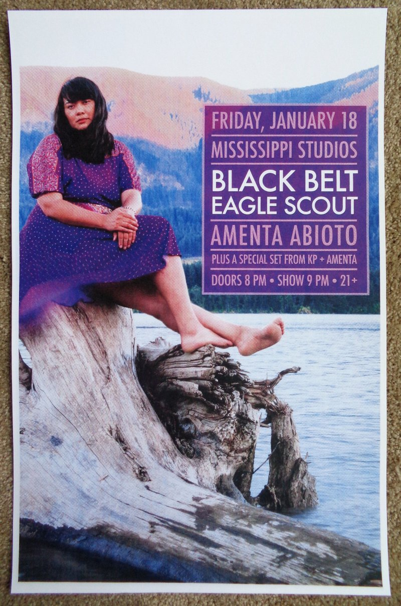 Image 0 of BLACK BELT EAGLE SCOUT 2019 Gig POSTER Portland Oregon Concert Katherine Paul