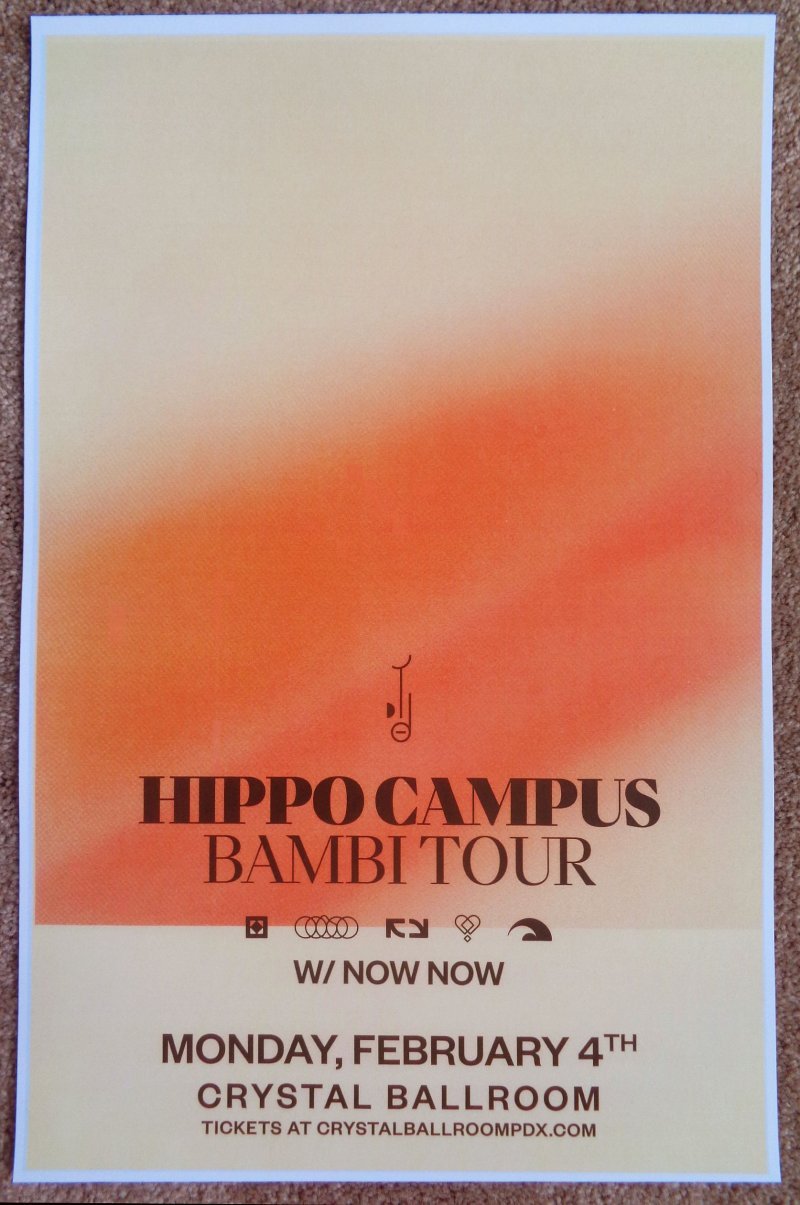 Image 0 of HIPPO CAMPUS 2019 Gig POSTER Portland Oregon Concert