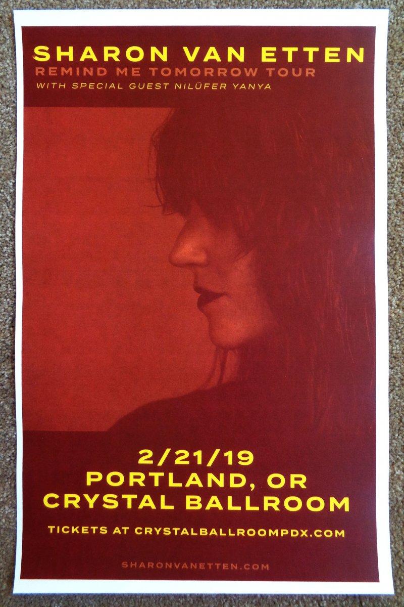xxxxxx V an E t ten SHA RON V AN ET TE N 2019 Gig POSTER Portland Oregon Concert