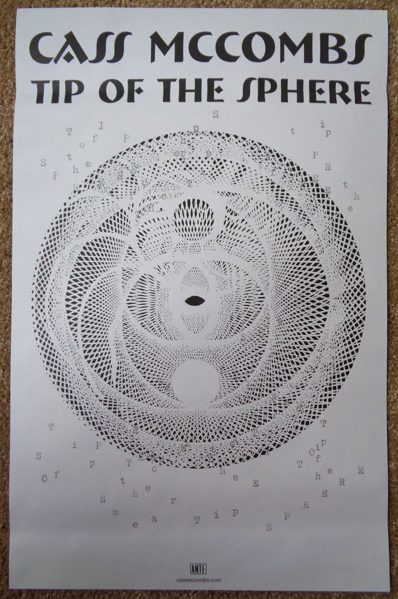 CASS McCOMBS Album POSTER Tip Of The Sphere 11x17