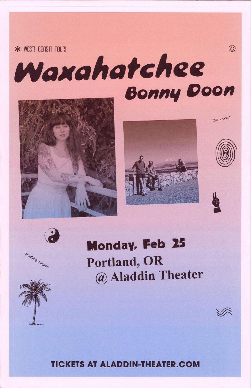 Image 0 of WAXAHATCHEE 2019 Gig POSTER Portland Oregon Katie Crutchfield Concert
