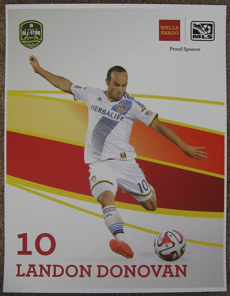 Donovan LANDON DONOVAN 2014 POSTER Soccer MLS All-Star Game Los Angeles Galaxy