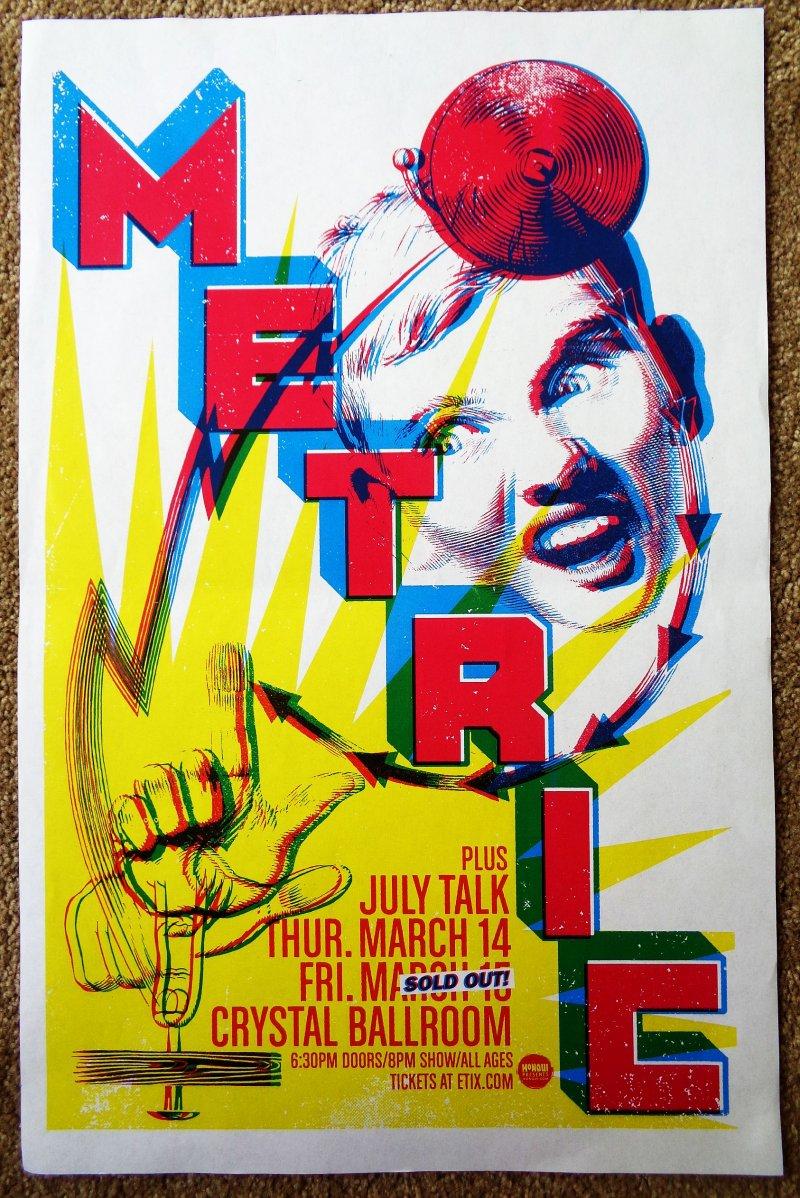 Image 0 of METRIC 2019 Gig POSTER Portland Oregon Concert Version 1 of 2