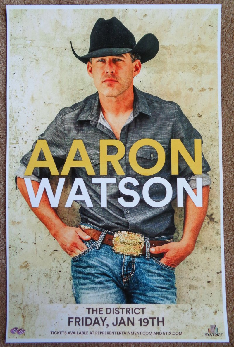 Watson AARON WATSON 2018 Gig POSTER Sioux Falls South Dakota Concert