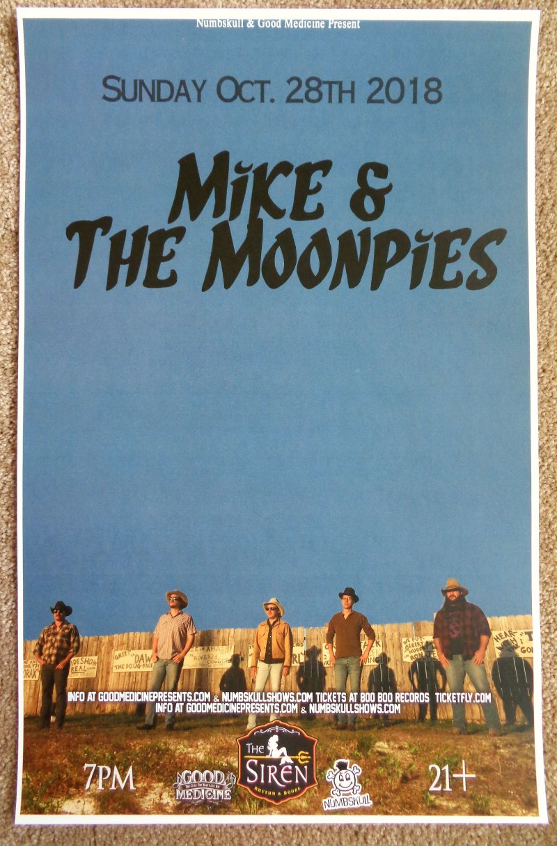 MIKE AND THE MOONPIES 2018 Gig POSTER Morro Bay California Concert