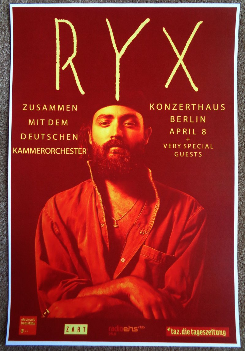 RY X 2017 Gig POSTER Berlin Germany Concert