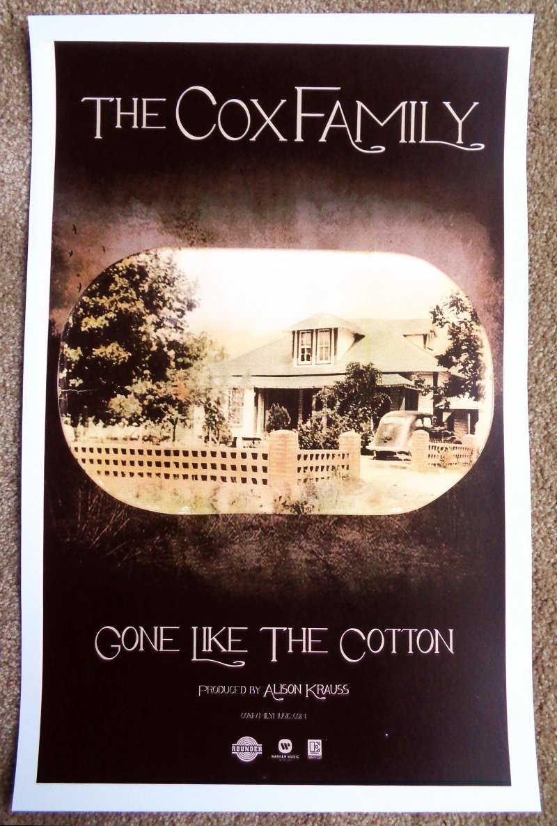 Cox Family THE COX FAMILY Album POSTER Gone Like The Cotton Alison Krauss
