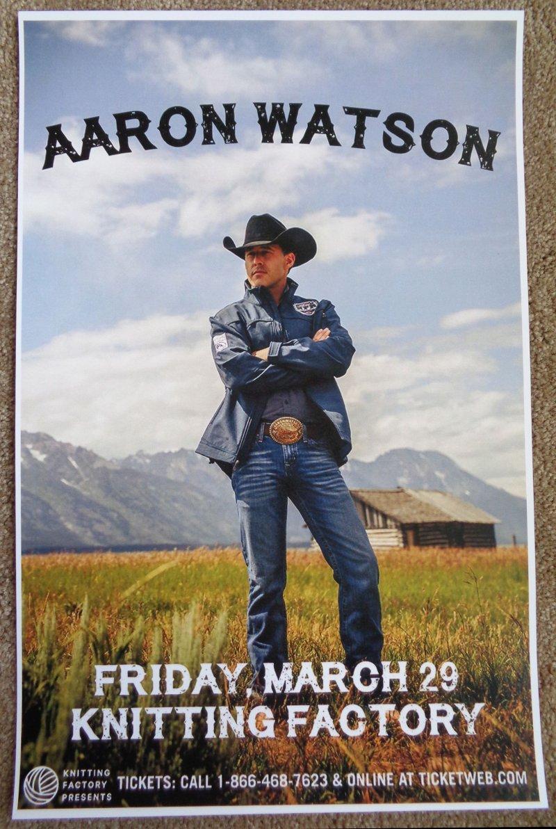 Image 0 of Watson AARON WATSON 2019 Gig POSTER Spokane Washington Concert