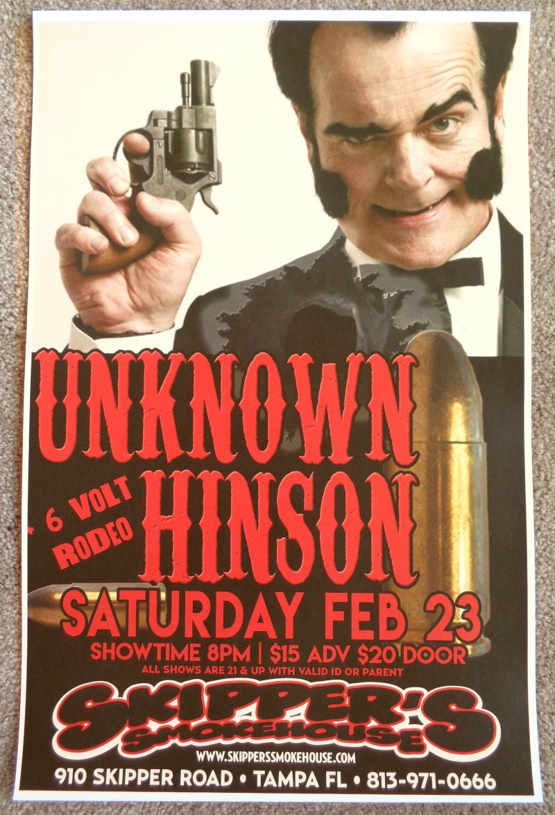 Image 0 of Hinson UNKNOWN HINSON 2019 Gig POSTER Tampa Florida Concert Cuyler Adult Swim