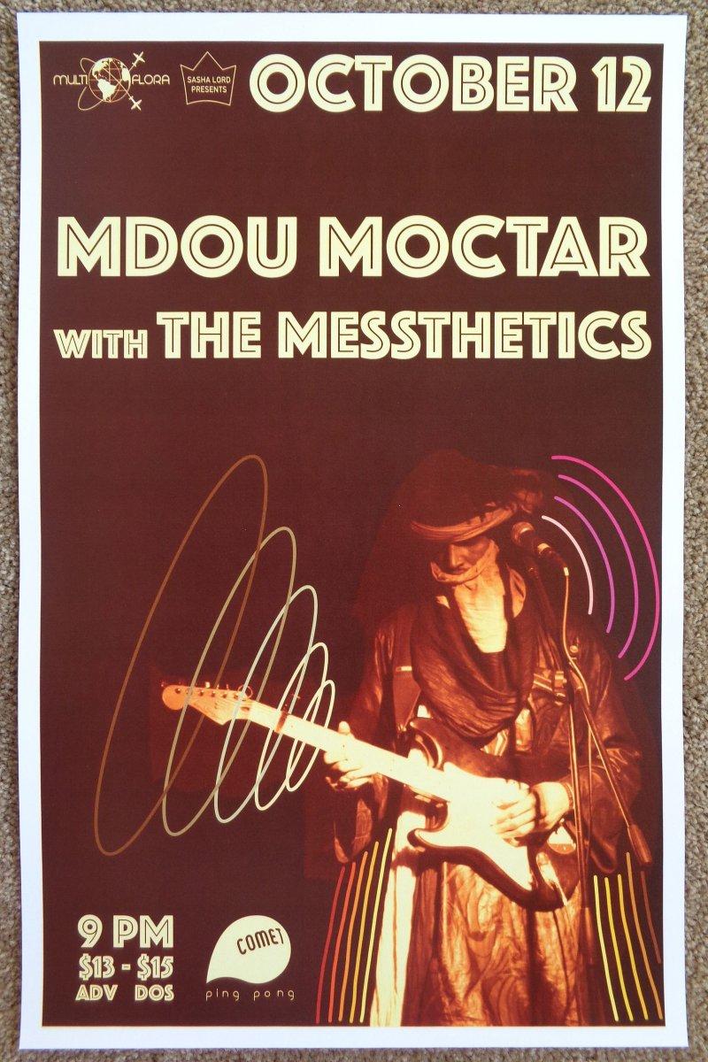Moctar MDOU MOCTAR 2017 Gig POSTER Washington DC Concert