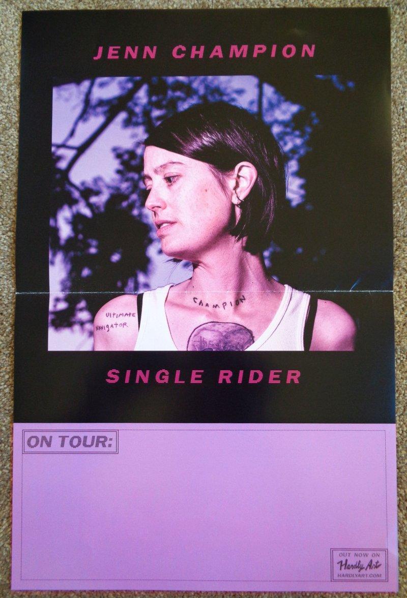 Image 0 of Champion JENN CHAMPION Album POSTER Single Rider 11x17