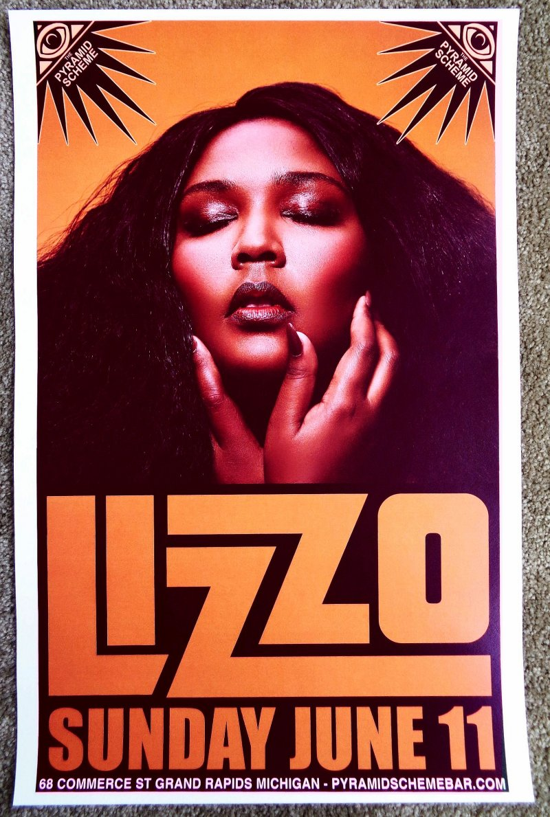 Image 0 of LIZZO 2017 Gig POSTER Grand Rapids Michigan Concert