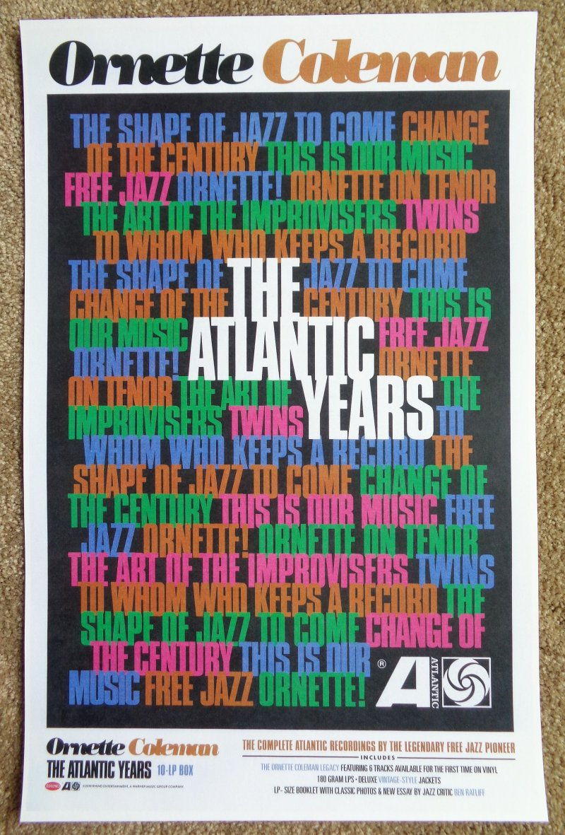Image 0 of Coleman ORNETTE COLEMAN Album POSTER The Atlantic Years 11x17