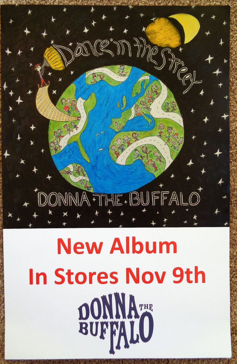 Image 0 of DONNA THE BUFFALO Album POSTER Dance In The Street 11x17