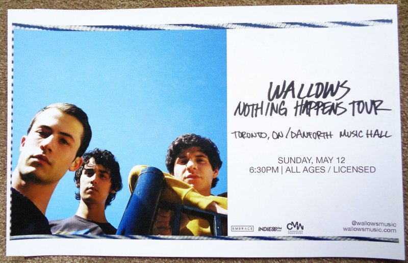 Image 0 of WALLOWS 2019 Gig POSTER Toronto DYLAN MINNETTE Ontario Canada Concert