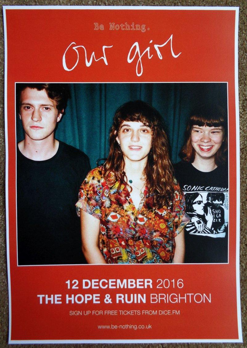 OUR GIRL 2016 Gig POSTER Brighton United Kingdom Concert SOPH NATHAN