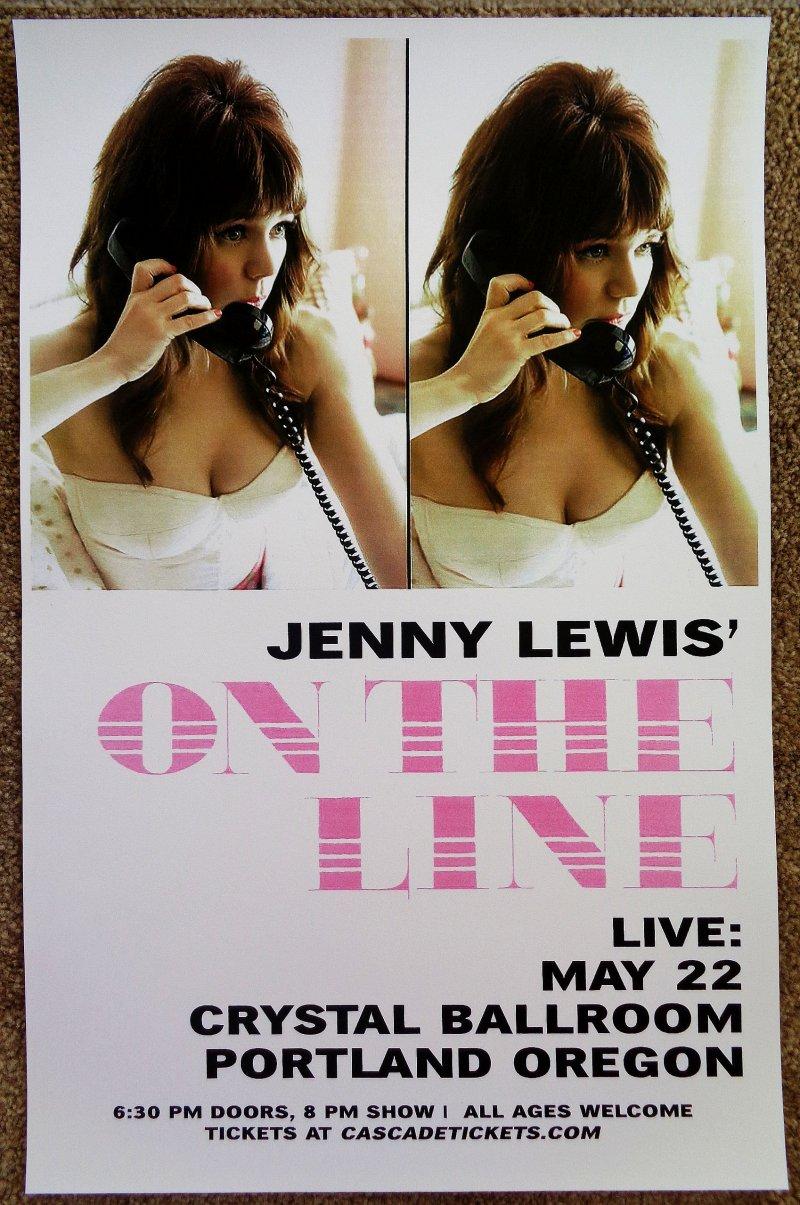 Lewis JENNY LEWIS 2019 Gig Poster Portland Oregon Concert RILO KILEY