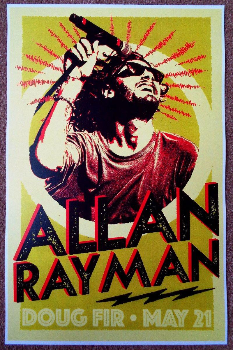 Rayman ALLAN RAYMAN 2019 Gig POSTER Portland Oregon Concert
