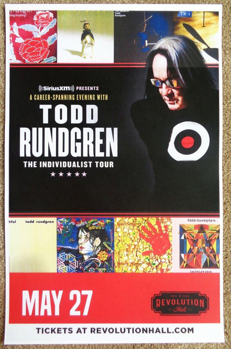 Rundrgen TODD RUNDGREN 2019 Gig POSTER Portland Oregon Concert