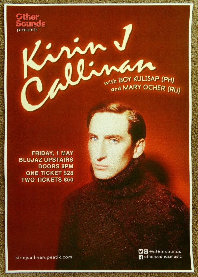 Callinan KIRIN CALLINAN 2015 Gig POSTER Singapore Concert