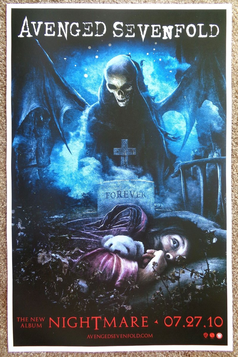 Image 0 of AVENGED SEVENFOLD Nightmare Album POSTER 2-Sided 11x17