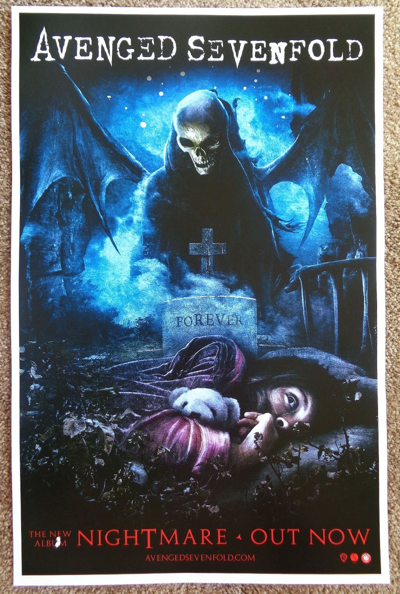 Image 1 of AVENGED SEVENFOLD Nightmare Album POSTER 2-Sided 11x17