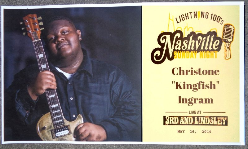 Image 0 of Ingram CHRISTONE KINGFISH INGRAM  2019 Gig POSTER Nashville Tennessee Concert