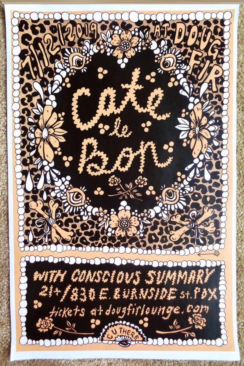 Le Bon CATE LE BON 2019 Gig POSTER Portland Oregon Concert