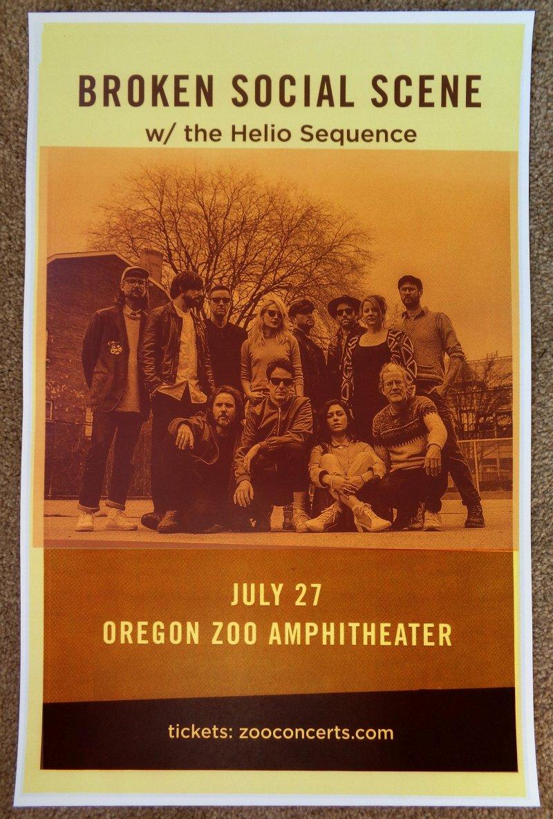 Image 0 of BROKEN SOCIAL SCENE 2019 Gig POSTER Portland Oregon Concert