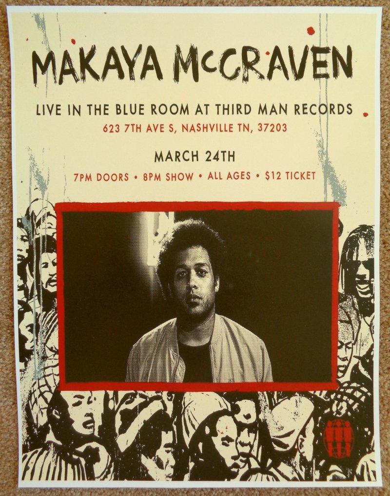 Image 0 of McRaven MAKAYA McCRAVEN 2019 Gig POSTER Nashville Tennessee Concert