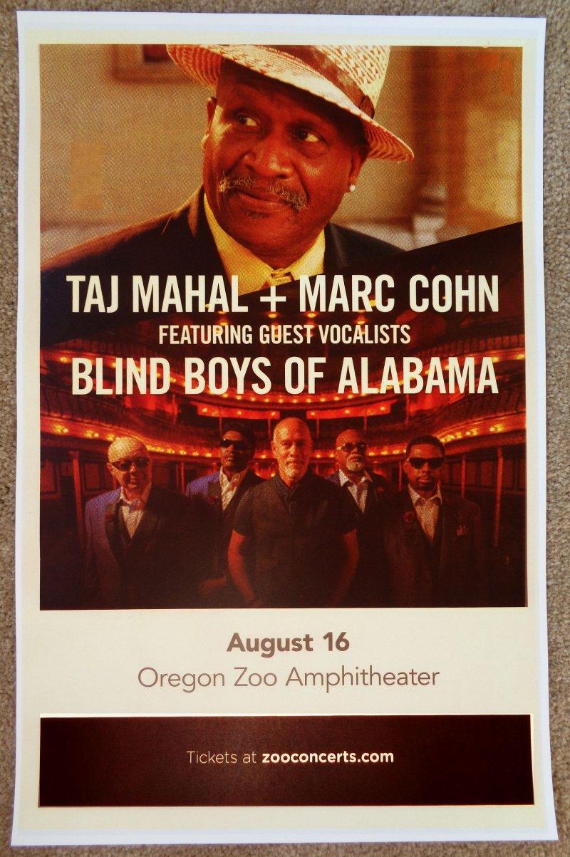 Mahal TAJ MAHAL 2019 Gig POSTER Portland Oregn MARK COHN / BLIND BOYS OF ALABAMA
