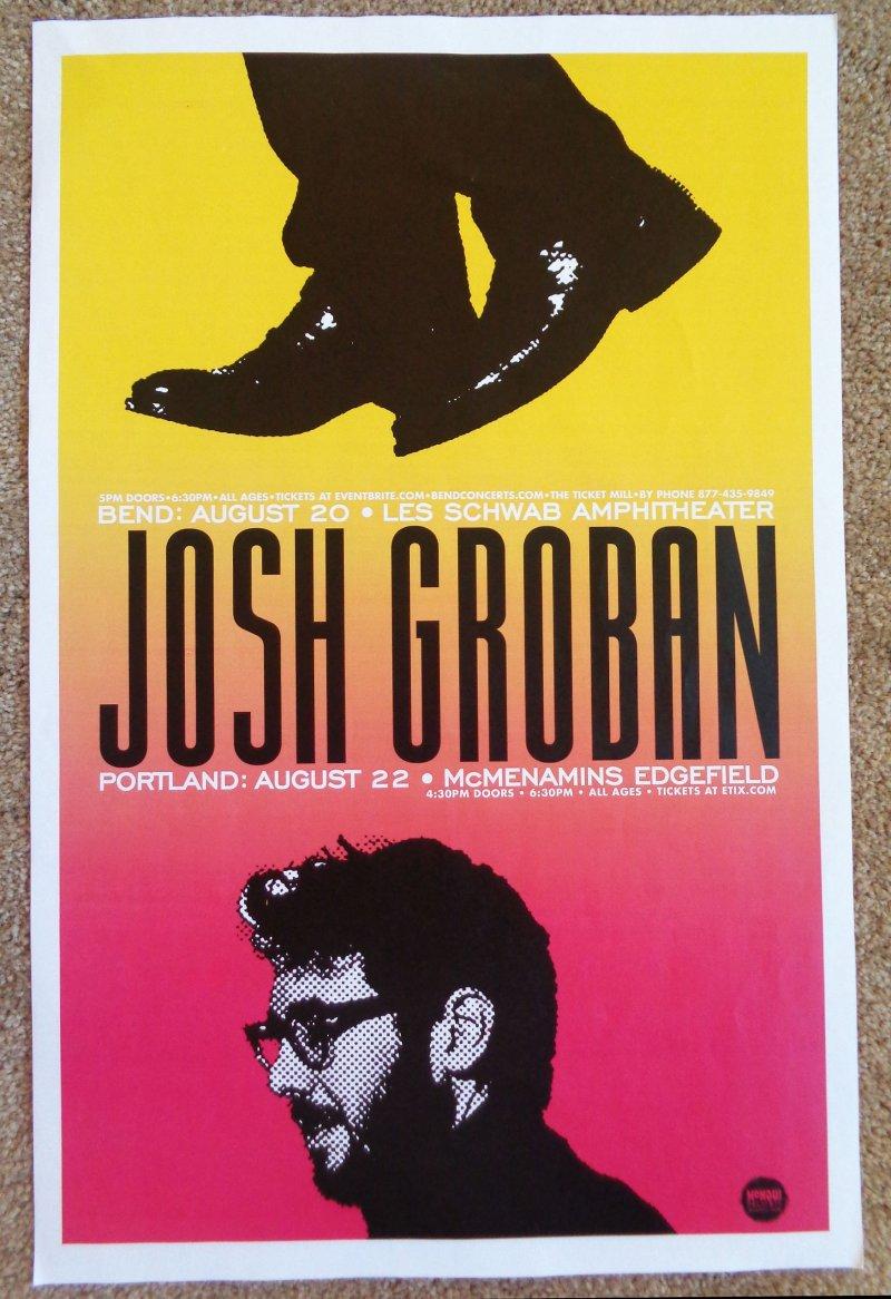 Image 0 of Groban JOSH GROBAN 2019 Gig POSTER Portland &  Bend Oregon Edgefield Concert