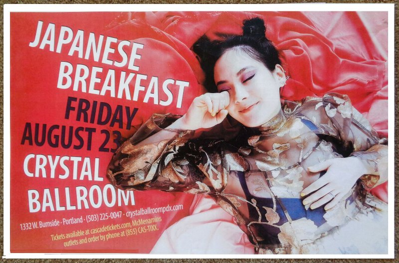 Image 0 of JAPANESE BREAKFAST 2019 Gig POSTER Portland Oregon Concert Michelle Zauner