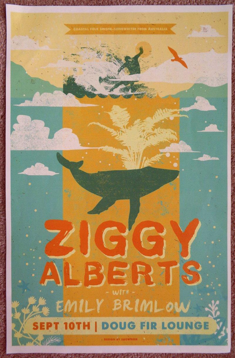 Image 0 of Alberts ZIGGY ALBERTS 2019 Gig POSTER Portland Oregon Concert