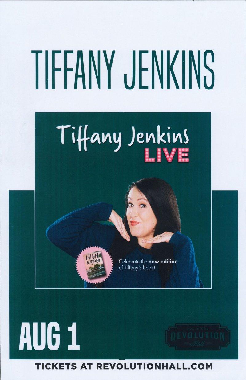 Jenkins TIFFANY JENKINS 2019 Gig POSTER Comedy Portland Oregon