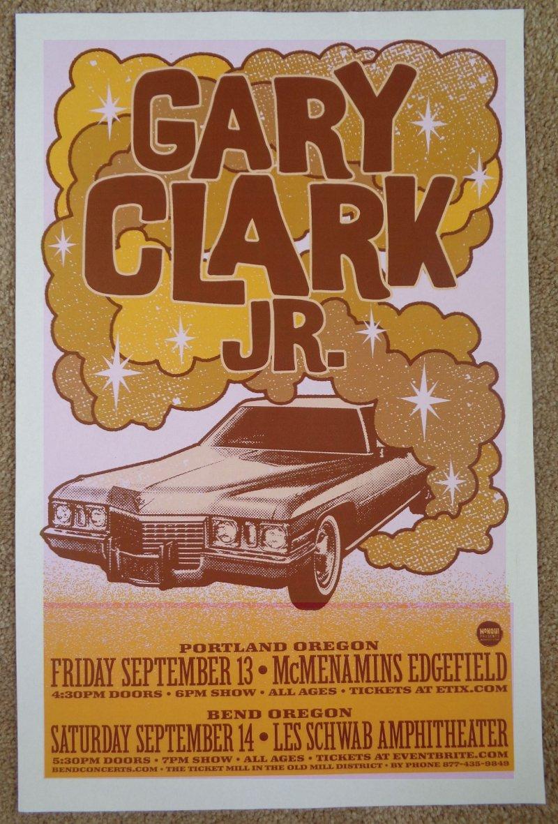 Image 0 of Clark GARY CLARK JR. 2019 Gig POSTER Oregon Edgefield Portland Bend Concert