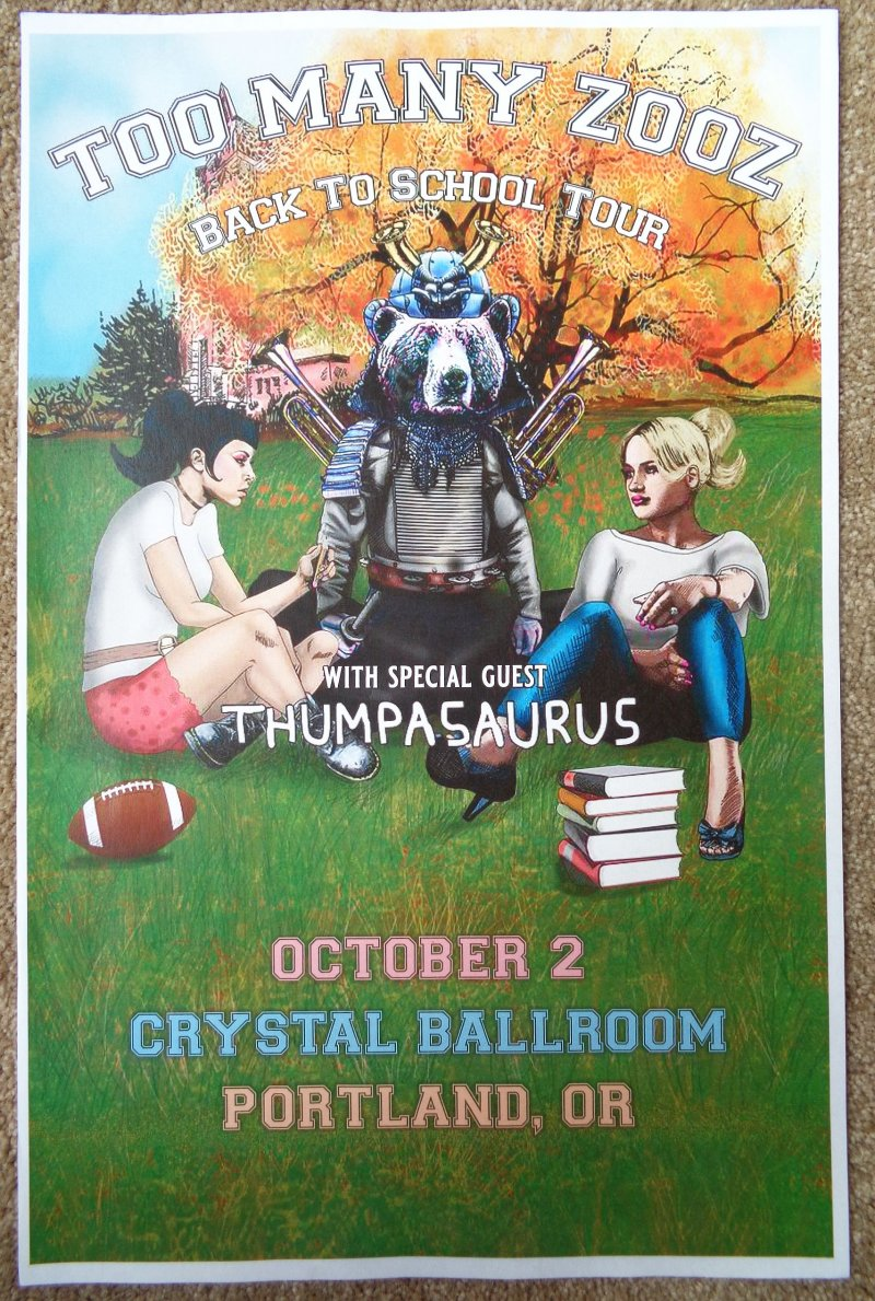 Image 0 of TOO MANY ZOOZ 2019 Gig POSTER Portland Oregon Concert Version 1 of 2
