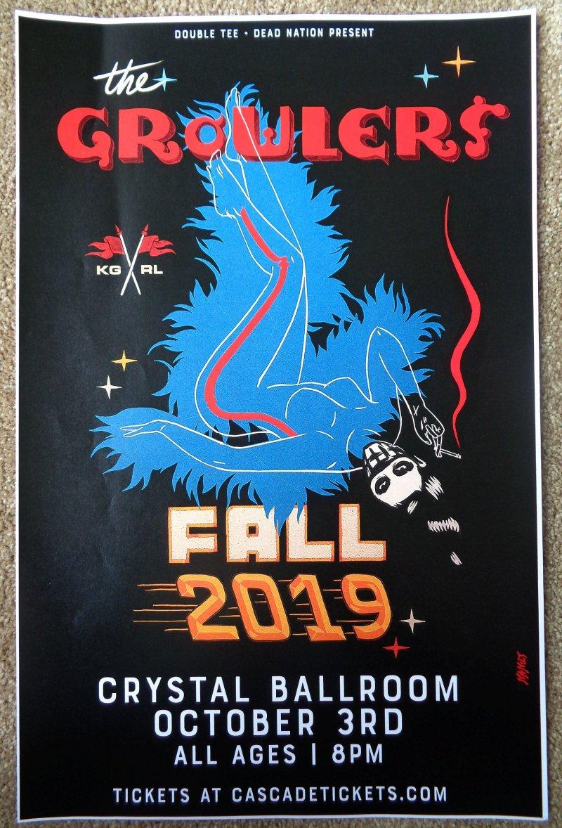 Image 0 of GROWLERS 2019 Gig POSTER Portland Oregon Concert The Growlers