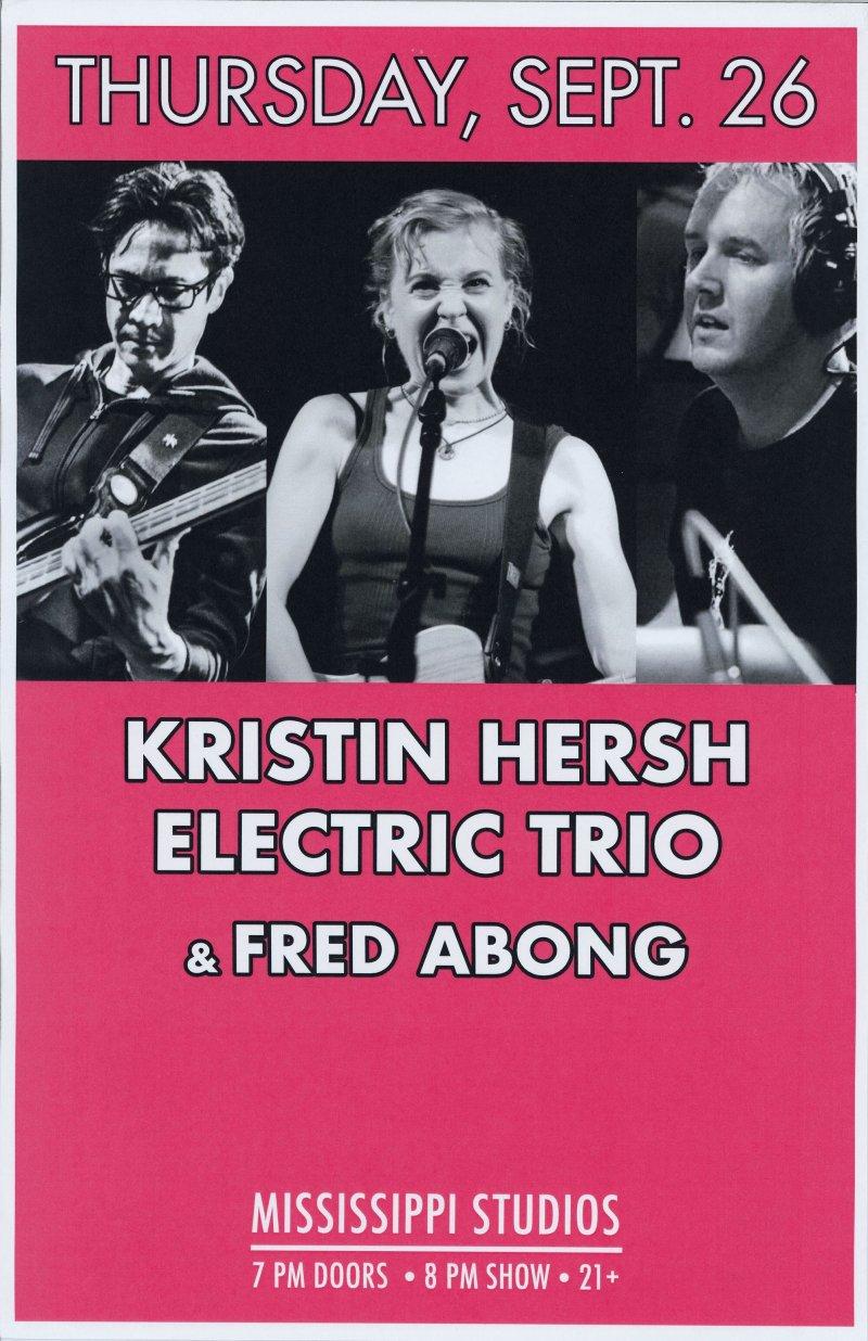 Image 0 of Hersh KRISTIN HERSH ELECTRIC TRIO 2019 POSTER Gig Portland Oregon Concert