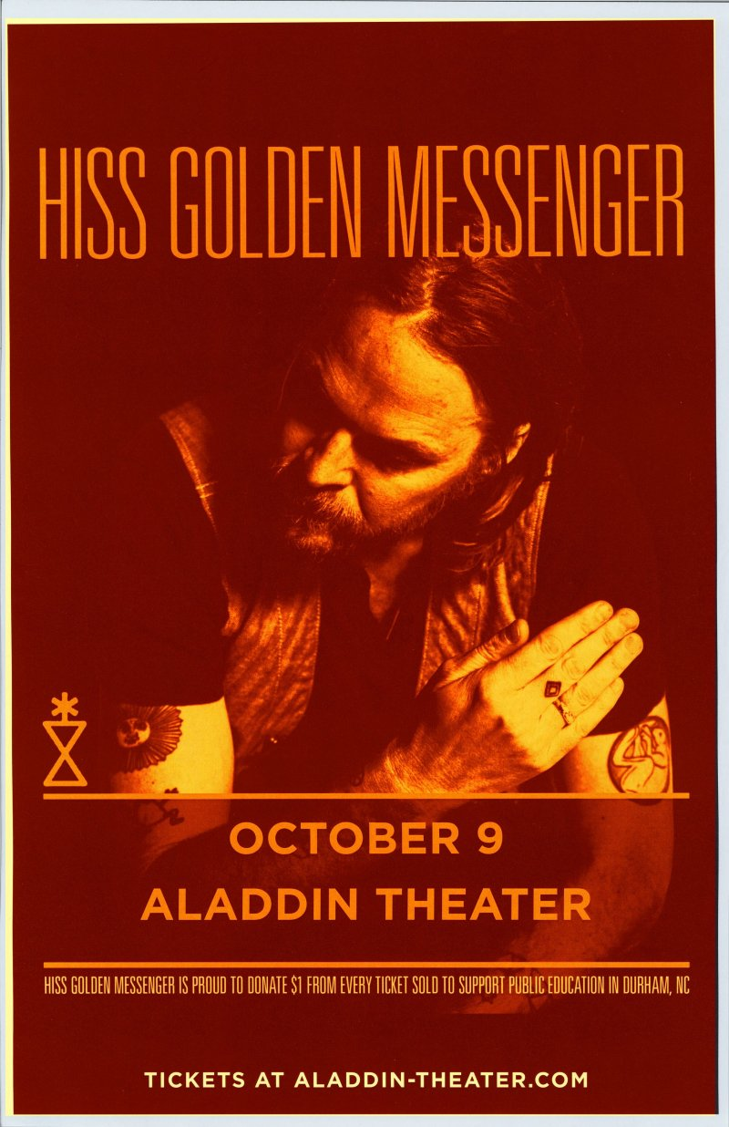 Image 0 of HISS GOLDEN MESSENGER 2019 Gig POSTER Portland Oregon Concert