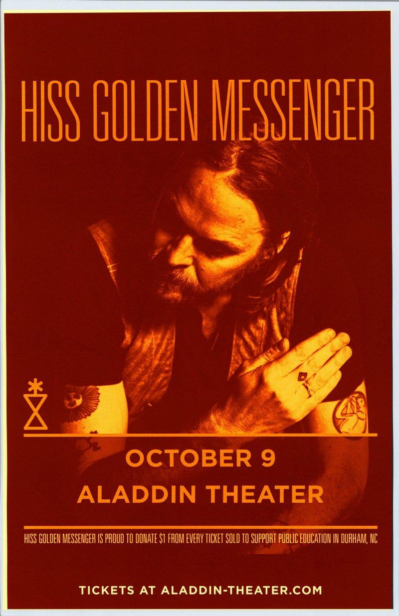 Image 0 of HISS GOLDEN MESSENGER 2019 Gig POSTER Portland Oregon Concert