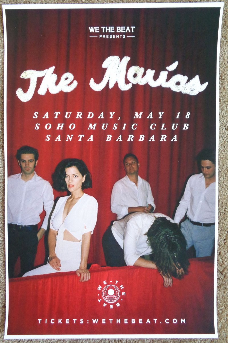 Image 0 of Marias THE MARIAS 2019 Gig POSTER Santa Barbara Concert California