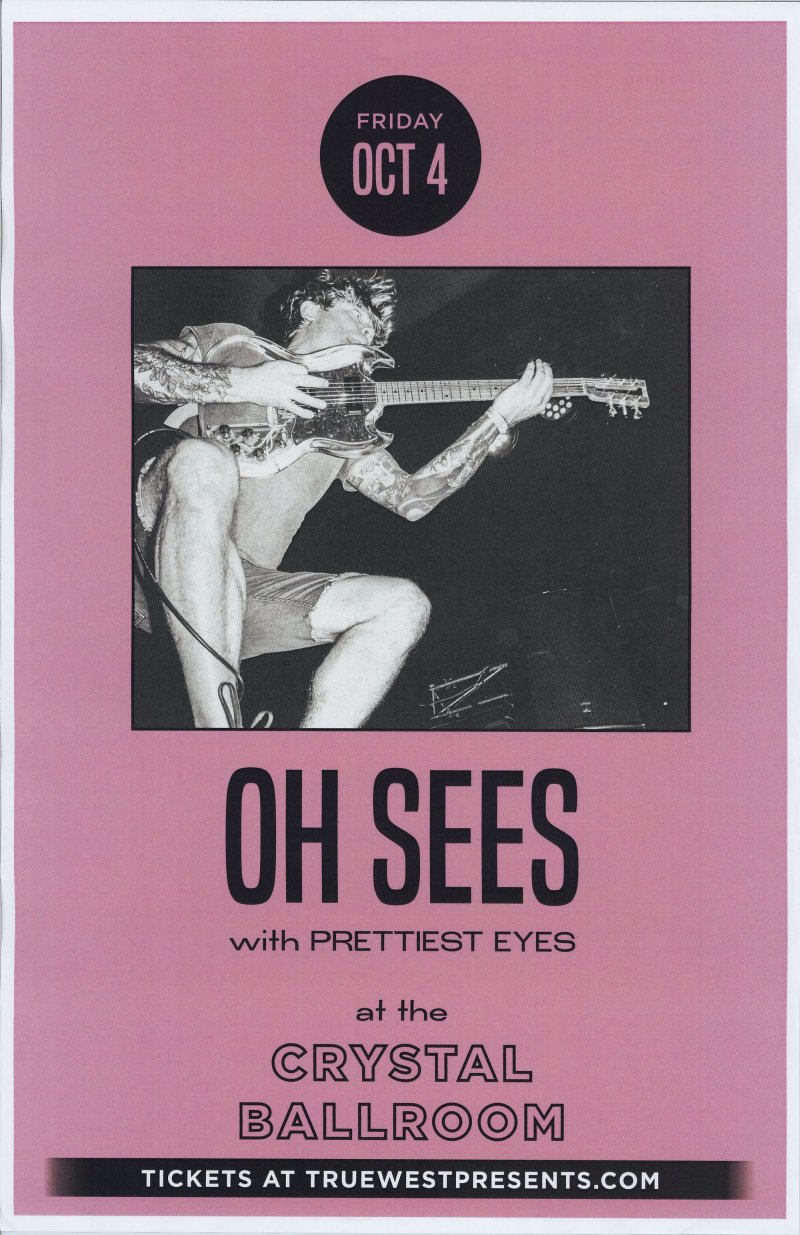 Image 0 of THEE OH SEES 2019 Gig POSTER Portland Oregon Concert