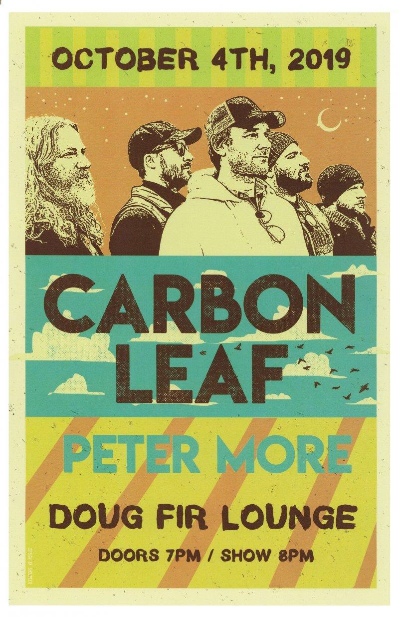 CARBON LEAF 2019 Gig POSTER Portland Oregon Concert