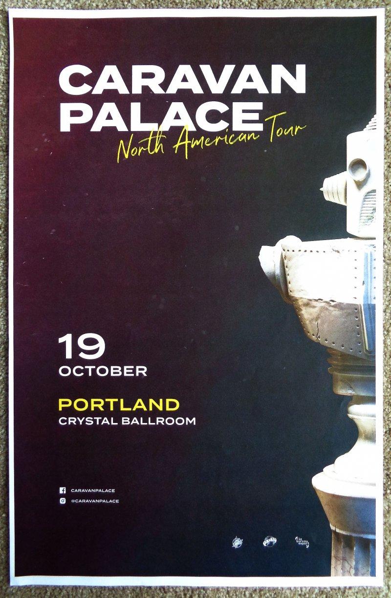Image 0 of CARAVAN PALACE 2019 Gig POSTER Portland Oregon Concert